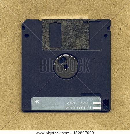 Vintage Looking Magnetic Floppy Disc