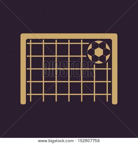 The football goal icon. Soccer symbol. Flat Vector illustration