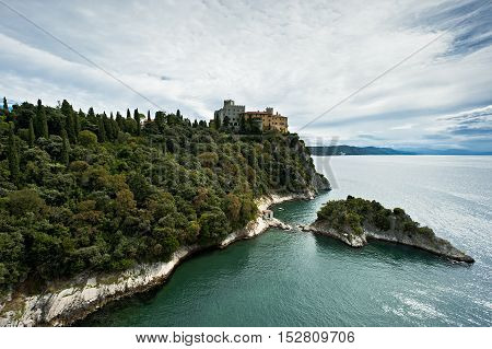 The calstle of Duino in the gulf of Trieste.Italy.