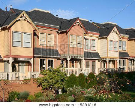 New modern town houses.