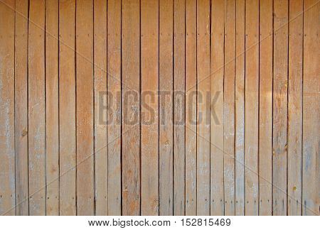 Sienna brown old wooden fence. wood palisade background. planks texture