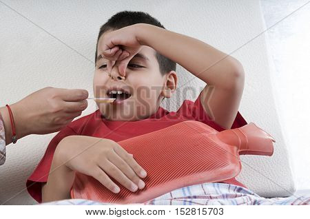 Unwillingly Flu Syrup Taker