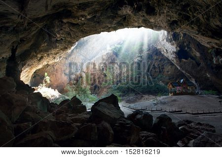 panoramic view of giant  cave in Nakhon Sawan , Thailand