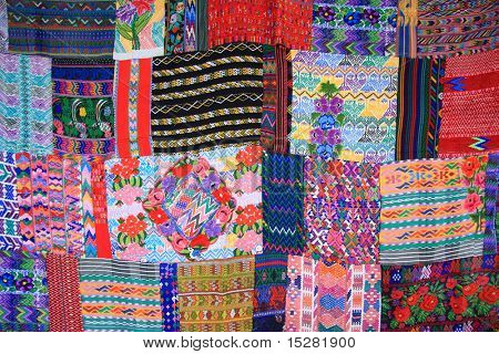 Colorful Mexican blanket.