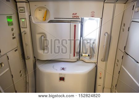 Airbus A380 Airplane Inside Exit Door