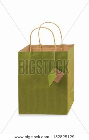 Empty Blank Gift Bag on White for your Copy