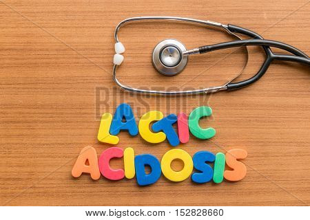Lactic Acidosis Colorful Word