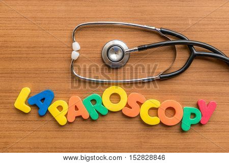 Laparoscopy Colorful Word