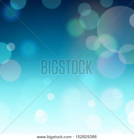 Festive Background With Bokeh Defocused Lights