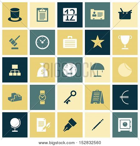 Flat design icons for business. Vector illustration.