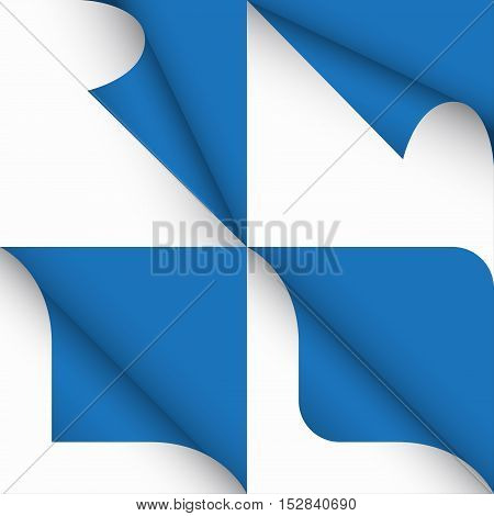 Set of paper curled corners of page vector illustration