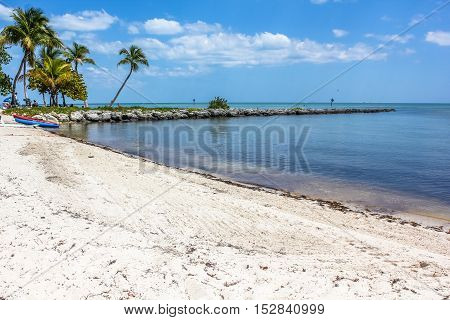 Smathers Beach in Key West, Florida is the longest beach on the island and is equipped with all comforts for a relaxing tropical vacation.