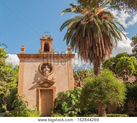 BAGHERIA ITALY - SEPTEMBER 10 2015: The Villa Palagonia is a patrician villa in Bagheria 15 km from Palermo in Sicily southern Italy.