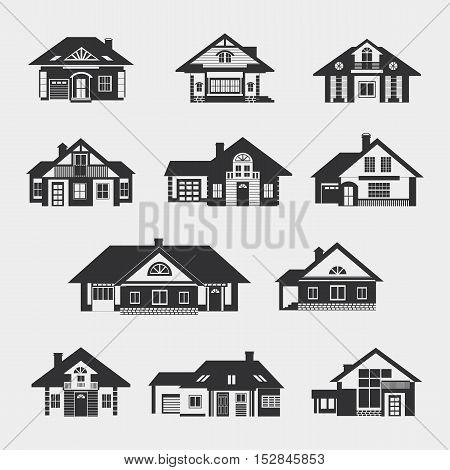 Set Of Single-storey Houses