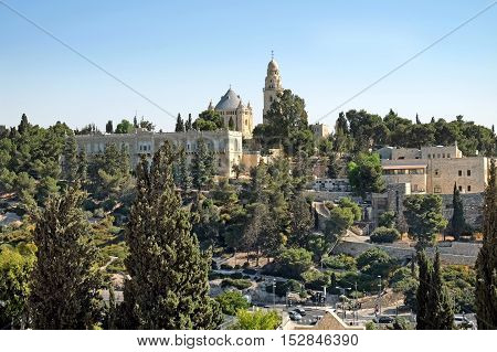 Dormishon - Catholic Cathedral of the Assumption of the Virgin Mary on Mount Zion in Jerusalem