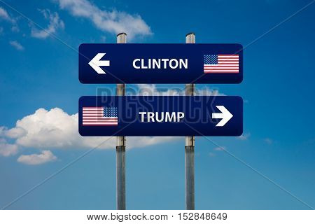 concept of 2016 USA elections (Clinton vs Trump)
