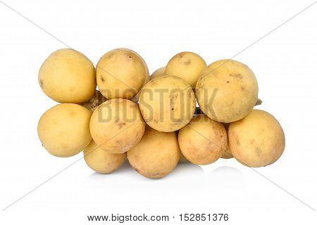 fresh wollongong fruit isolated on white background