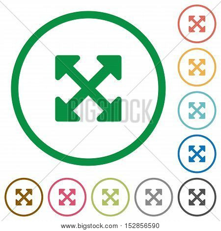 Resize full alt flat color icons in round outlines
