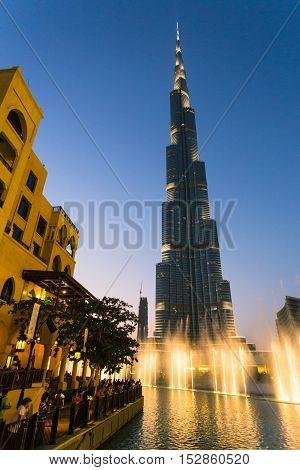 A Record-setting Fountain System Set On Burj Khalifa Lake