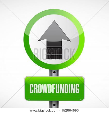 Crowdfunding Road Sign Concept