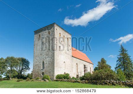 Medieval church in Poide, island of Saaremaa, Estonia.