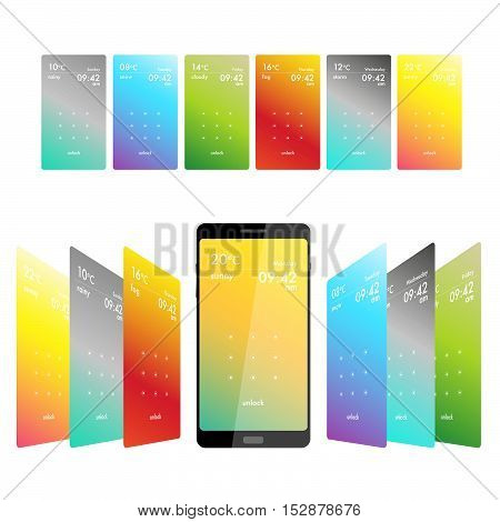 Pattern to unlock screen for smartphone business