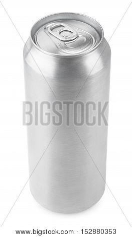 500 ml aluminum beverage drink beer can isolated on white with clipping path poster