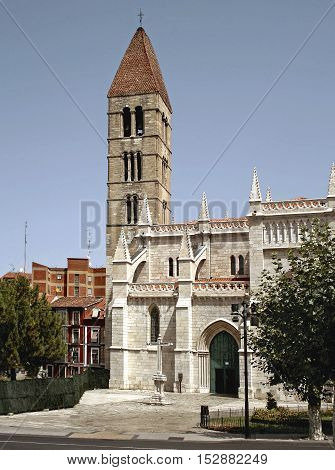 Church of St. Mary of the Antique XIV th century in Valladolid, Castilla y Leon, Spain