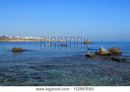 Beach near Algiers, capital city of Algeria