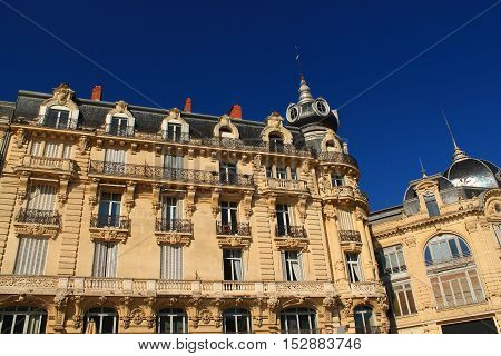 Architectural style in Montpellier, town in the South of France