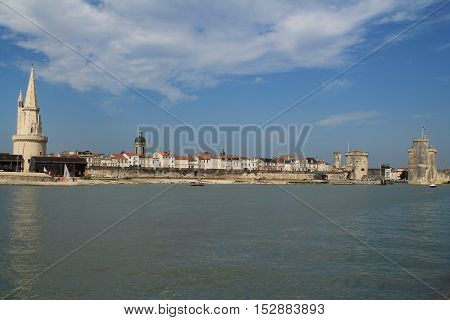 La Rochelle, the French city and seaport located on the Bay of Biscay, a part of the Atlantic Ocean
