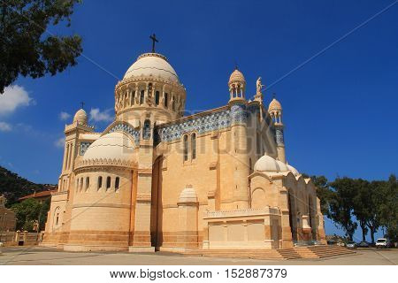 Basilica nore dame d'Afrique in Algiers, capital city of Algeria