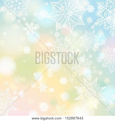 Light color background with snowflakes and stars vector illustration