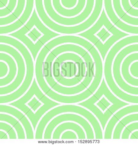 Retro Textured Circle Shaped Seamless Background