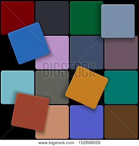 3d minimal colorful square background. Vector design template
