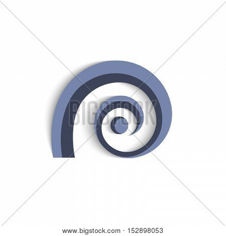 3d blue abstract icon for design. Vector EPS10