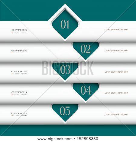 3d modern white Design template. Vector website layout