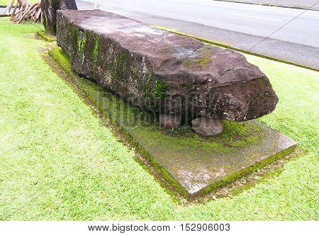 The Naha Stone, Hilo, Big Island, Hawaii