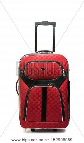 Suitcase bag travel isolated on white background