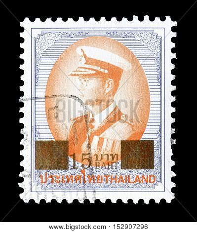 THAILAND - CIRCA 1996 : Cancelled postage stamp printed by Thailand, that shows king Bhumibol.