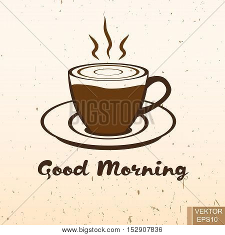 Good morning. Coffee. Cup. Hot drinks. Vivacity. For your design.