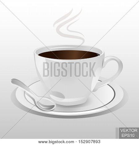Realistic mug. Ceramics. Hot drinks. Coffee. Tea. Morning. Vivacity. For your design.