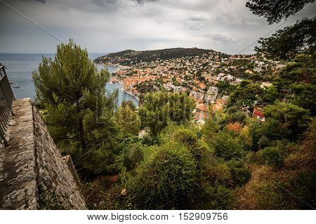 Nice, France: aerial panoramic top view of Port