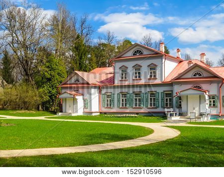 ABRAMTSEVO, RUSSIA - MAY 1 2016: Memorial manor Abramtsevo artistic and literary museum-reserve. Main Manor House