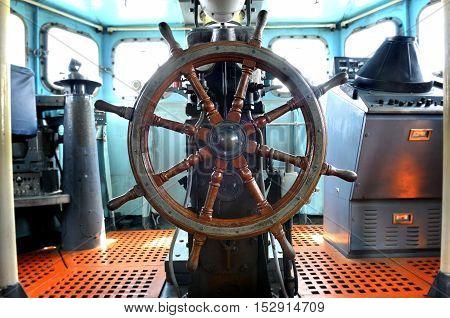 Room Of War Ship Control