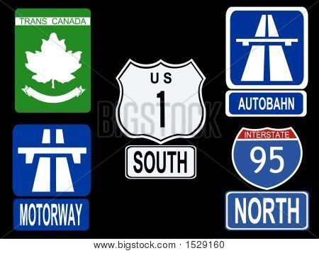 International Highway Signs