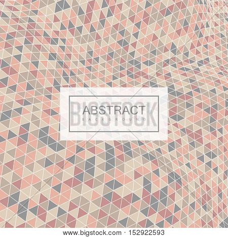 Abstract polygonal distorted background with colorful triangulation. Vector geometric illustration. Applicable for cover, placard, brochure, flyer, banner design