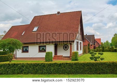 Row of Houses in Small City of Germany