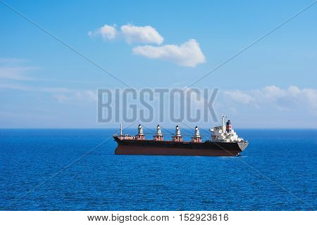 Big Bulk Carrier Ship in the Black Sea