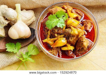 Pork Curry or Kaeng Hung Ley Moo (Thai name).